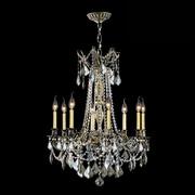 Worldwide Lighting Windsor 8 Light Crystal Chandelier; Golden Teak