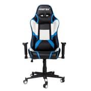 Merax Racing High-Back Executive Chair w/ Adjustable Swivel; Blue