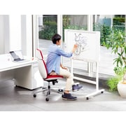 Plus Boards Compact 2 Panel Electronic Wall Mounted Whiteboard, 28'' x 43''