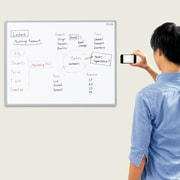 Plus Boards Smartphone Ready Magnetic Whiteboard; 35'' x 47''