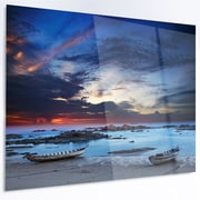 DesignArt 'Colorful Traditional Asian Boats' Photographic Print on Metal; 30'' H x 48'' W x 1'' D