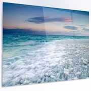 DesignArt 'Beautiful Sunrise at Dead Sea' Photographic Print on Metal; 12'' H x 28'' W x 1'' D