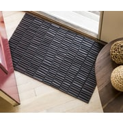 Entryways Timeless Wood Wall Recycled Rubber Door Mat