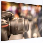 DesignArt 'Modern Camera in City Electronics Shop' LED Photographic Print on Metal