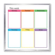 Flipside Products Framed Calender Whiteboard, 48'' x 48''