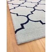 Eastern Weavers Wool Hand-Tufted Light Blue/Navy Blue Area Rug