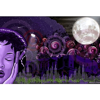 Maxwell Dickson ''Midnight Vibes'' Graphic Art on Canvas; 40'' H x 60'' W