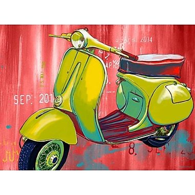 Maxwell Dickson ''Vintage Scooter'' Graphic Art on Canvas; 20'' H x 30'' W