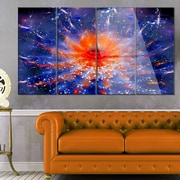 DesignArt 'Colorful Glowing Flower in Space' 4 Piece Graphic Art on Canvas Set