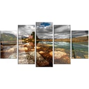 DesignArt 'Beautiful Clear Mountain Lake' 5 Piece Photographic Print on Canvas Set