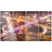 DesignArt 'Beautiful Shanghai Traffic' 4 Piece Photographic Print on Canvas Set