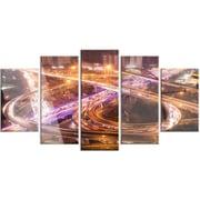 DesignArt 'Beautiful Shanghai Traffic' 5 Piece Photographic Print on Canvas Set