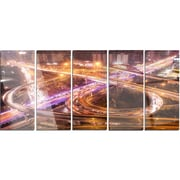 DesignArt 'Beautiful Shanghai Traffic' 5 Piece Photographic Print on Canvas Set