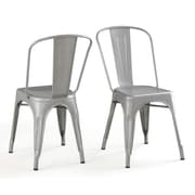 Belleze Side Chair (Set of 4); Silver