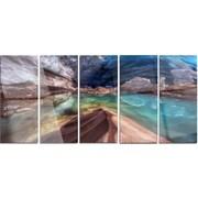 DesignArt 'Colorful Glacier Cave' 5 Piece Graphic Art on Canvas Set