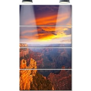 DesignArt 'Colorful Grand Canyon at Sunset' 4 Piece Photographic Print on Canvas Set