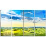 DesignArt 'Colorful Tuscany Countryside Farm' 4 Piece Photographic Print on Canvas Set