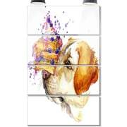 DesignArt 'Cute Labrador Dog Watercolor' 4 Piece Graphic Art on Canvas Set