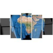 DesignArt 'African Map in Our Hands' 5 Piece Photographic Print on Canvas Set