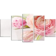 DesignArt 'Full Bloom and Blooming Flowers' 5 Piece Photographic Print on Canvas Set