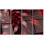 DesignArt 'Multicolor Symmetrical Fractal Flower' 4 Piece Graphic Art on Canvas Set