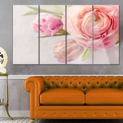 DesignArt 'Full Bloom and Blooming Flowers' 4 Piece Photographic Print on Canvas Set
