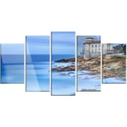 DesignArt 'Beautiful Italian Seashore View' 5 Piece Photographic Print on Canvas Set