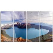 DesignArt 'Clear Lake w/ Bright Sky' 4 Piece Photographic Print on Canvas Set