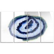 DesignArt 'Slice of Beautiful Blue Agate' 4 Piece Graphic Art on Canvas Set