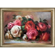 Tori Home 'Discarded Roses' by Pierre Auguste Renoir Framed Original Painting on Canvas