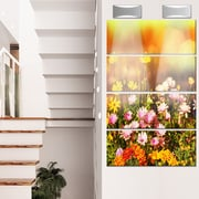 DesignArt 'Beautiful Multi-Color Flowers' 4 Piece Photographic Print on Canvas Set