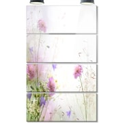 DesignArt 'Beautiful Pastel Floral Pattern' 4 Piece Photographic Print on Canvas Set