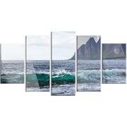 DesignArt 'Beautiful Lofoten Island Norway' 5 Piece Photographic Print on Canvas Set