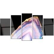 DesignArt 'Beautiful Slice of Agate on Black' 5 Piece Photographic Print on Canvas Set