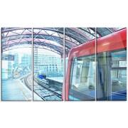 DesignArt 'Departing London Subway Train' 4 Piece Photographic Print on Canvas Set