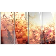 DesignArt 'Brown Shade Flowers in Sunshine' 4 Piece Photographic Print on Canvas Set