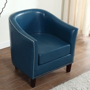 BestMasterFurniture Barrel Chair; Blue