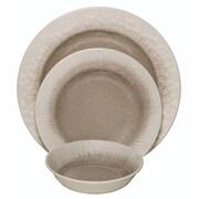 Happy Planter Crackle 3 Piece Dinnerware Set (Set of 4); Cement