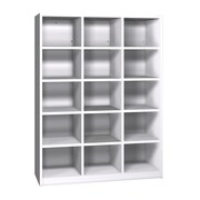 Ironwood Glacier 15 Compartment Cubby; Folkstone Grey