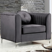 Meridian Furniture USA Isabelle Arm Chair; Gray