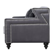 Meridian Furniture USA Harley Arm Chair; Gray