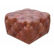 Pasargad Paris Club Leather Ottoman