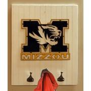 HensonMetalWorks Collegiate Logo Wood Coat Rack; University of Missouri