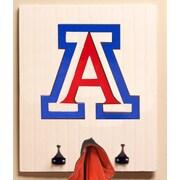 HensonMetalWorks Collegiate Logo Wood Coat Rack; University of Arizona
