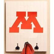 HensonMetalWorks Collegiate Logo Wood Coat Rack; University of Minnesota
