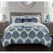 Stylehouse Kaitlyn 8 Piece Reversible Comforter Set; Full
