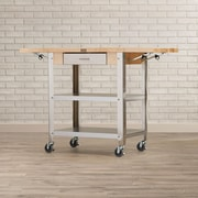 John Boos Cucina Americana Kitchen Cart w/ Wood Top; 2 Included