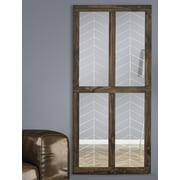 Majestic Mirror Window Wood Framed Wall Mirror