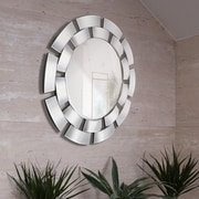 Majestic Mirror Creative Circular Convex Panel Framed Wall Mirror