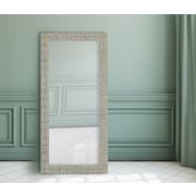 Majestic Mirror Attractive Rectangular Textured Framed Wall Mirror